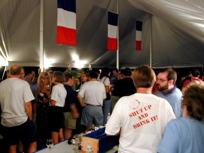 Tasting under the tent at MoCool 10: Tour de France (2001)